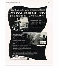1955 Excelite 135 Projection Arc Lamp  Movie Theater Projector Vtg Print Ad