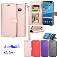 For Samsung Galaxy S10 / S10 +/S10 Plus PU Leather Wallet Case Stand Phone Cover