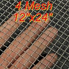 4 Mesh  #4 .047 304 Stainless Steel Woven Wire Filtration Filter Sheet 30 x 60cm