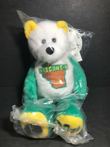 NEW Limited Treasures WISCONSIN State Quarter Coin Bear w/Tags RETIRED 2004 L@@K