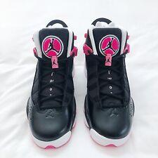 NWOB Jordan 6 Rings Black Hyper Pink White 323399-061 Size 7.5 Youth