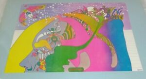 """Vtg 1969 Peter Max Instant Nutrament 2 Poster Mounted on Cardboard 15"""" x 10"""