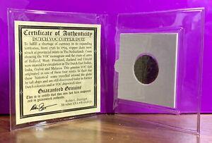 Dutch Netherlands Colonial VOC Duit Coin New York Penny