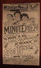 MINUTEMEN Shell Shock New Orleans LA (1984) Vintage Punk Flyer/Poster black flag