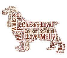 Personalised Cocker Spaniel Dog Lovers Word Art Print Great Gift Mum Dad Friend