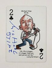 Michael Stipe Rem R.E.M Signed Autographed Heroes Of Rock Playing Card Proof