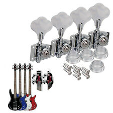 Bass Guitar Tuning Keys Pegs Tuners Machine Heads Set For Jazz P Parts Chrome 4R