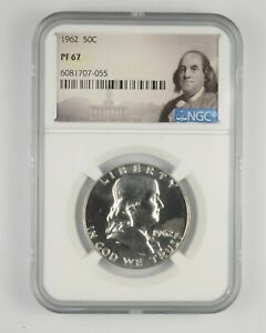 PF67 - 1962 Franklin 90% Silver Half Dollar - NGC *488