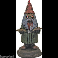 Bloody Zombie GNOME-BIE Light Up Walking Dead Horror Prop Garden Yard Decoration