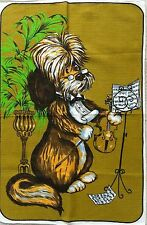 Vintage 'HOW MUCH is that DOGGY' Caricature DOG Retro Cotton TEA TOWEL