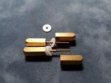 Miniature  screws/bolts  for straight razor restoration