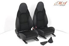 Neu-Beziehen der 2 Sitze mit Echtleder [passend zu Mazda MX-5 NB-FL] Schwarz