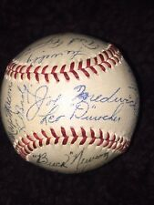 1943 Brooklyn Dodgers signed autographed baseball  Durocher Medwick