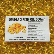 OMEGA 3 Fish Oil (500mg) 365 PILLOLE' ' (L)