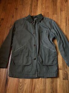LL Bean Vintage Men M Canvas Jacket Barn Chore Trucker  Unlined  Coat
