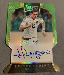 2016-17 Select Signatures Green Prizm Die-Cut Hector Moreno Auto /60 Mexico