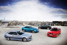 """QC00027 BMW - M3 E30 Series Super Racing Car Art 21""""x14"""" Poster"""