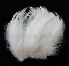"""100+ Ivory / Cream 5-7"""" hackle rooster COQUE Feathers for Crafting, Cynthia's"""