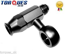 AN -6 (6AN) Weber / Dellorto Teflon Hose Fitting And Male Banjo Tee In Black