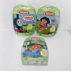 New! Leap Frog Baby Little Leaps Lot Of 3 Games Thomas Dora Learning Concepts
