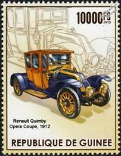 1912 RENAULT OPERA COUPE (Quimby Body) Classic Car Stamp (2015 Guinea)