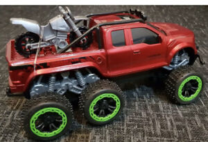 MONSTER TRUCK CROSS COUNTRY PICKUP Remote Control Car 1:18 FAST BLACK BLUE