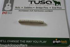 weißer Sattel nut von Graph Tech aus Tusq für Strat