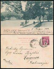 CEYLON to DALMATIA AUSTRIA YUGOSLAVIA 1902 EARLY PPC