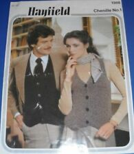 Hayfield Adult waistcoats Knitting Pattern 1388