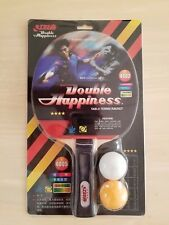 Double Happiness Table Tennis Racket Model 4002 / Long Handle (New In Package)