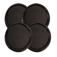 Tupperware Modular Mates Black Round Replacement Lids - Free Shipping