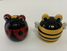 """Bumblebee And Lady Bug Salt And Pepper Shakers 2"""""""