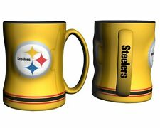 Pittsburgh Steelers Yellow Coffee Mug - 14oz Sculpted [NEW] Microwave Cup CDG
