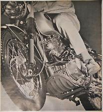 Honda Scrambler Print Ad Flyer Front Runner 305cc Motorcycle Send For 1965 Vtg