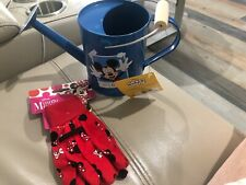 Mickey Mouse Minnie Mouse Garden Gloves And Watering Can Disney New 3+