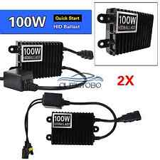 Pair 100W Fast Bright  Quick Start HID Xenon Ballast Replacement 12V Universal