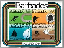 VB192 BARBADOS - #628a SOUVENIR SHEET OF STAMPS, MINT OG NH VF 1984 OLYMPICS