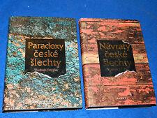 LOT 2 LIVRES TCHEQUE Navraty ceske slechty PARADOXY Vladimir Votypka Czech-Books