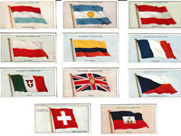 Vtg 11 Lot Players Tobacco Cigarette Cards FLAGS OF THE LEAGUE OF NATIONS 1928