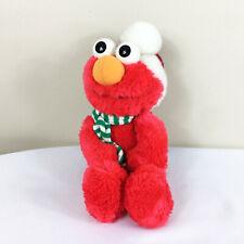"Vintage Tyco Christmas Elmo Santa Plush! 14"" Stuffed Toy Lovey Holiday Seasame"