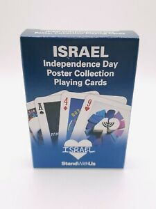 NEW Sealed Playing Cards ISRAEL INDEPENDENCE DAY POSTER COLLECTION Stand with US