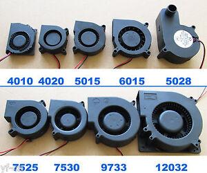 1x Brushless DC Cooling Blower fan 2pin 5V 12V 24V multi Sizes 4010 to 12032 lot