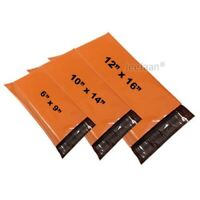 Strong Orange Postal Bags Plastic Self Seal Coloured Postage Mailing Bags Cheap