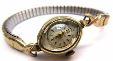 LADIES VINTAGE HELBROS GOLD TONE WRIST WATCH & IN WORKING CONDITION **