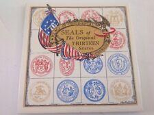 Phyllis Howard Screen Craft Seals Of Original 13 States Tile Trivet Americana