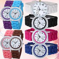 Geneva Women's Children Kids Analog Quartz Jelly Silicone Wrist Watch Exquisite