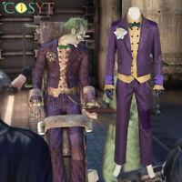 Batman Arkham Asylum Joker Cosplay Costume Full Set Arkham Joker Cosplay Outfits