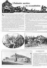 GRAINCO (59) SUCRERIE DELLOYE / THUMERIES (59) SUCRERIE BEGHIN / ERCHEU ADP 1921