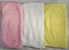 3 pacco super morbida in microfibra Baby Face rondelle Asciugamani Flannels Pulire Wash Cloth