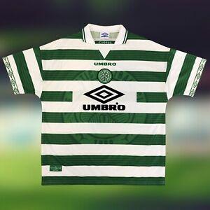 Celtic 1997/99 Home Soccer Jersey 2XL Umbro SPL Scotland Camiseta Futbol Vintage